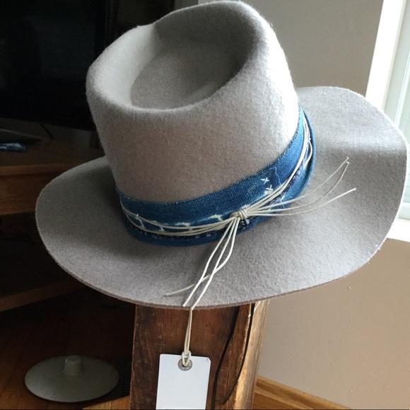 Lucky Brand Indigo Stitch Wool Hat NWT Cream 9f20a49d41a9